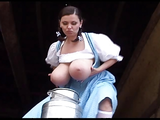 Ordinary German milk maid