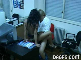 Latina Office Old and Young Voyeur