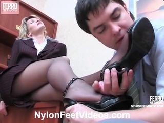 Christie and Adam kewl pantyhose feet actionion