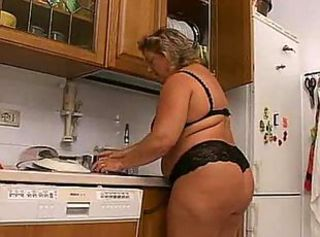 BBW Kitchen Lingerie Mature