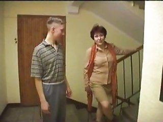 Mother fucked by son and his friend