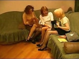 Horny milfs pet, lick and kiss their fleshy holes.