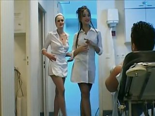 Babe Cute Handjob Nurse Uniform