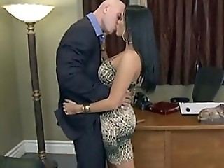 Amazing Hardcore Kissing MILF Office