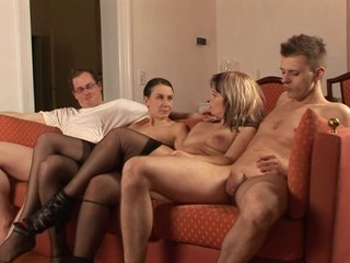 Amateur European German Groupsex MILF Stockings Swingers