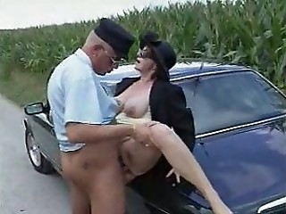 Car Clothed Hardcore Mature Outdoor