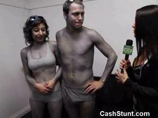 Body painted couple