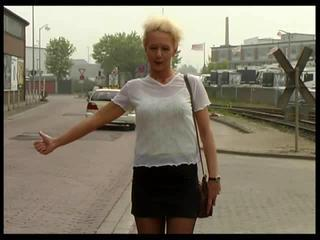 Amateur Blonde MILF Outdoor Skirt