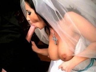 Some serious wedding day jitters has Jayden James fucking her priest for a little motivation