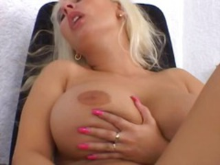 Big Tits Blonde Masturbating MILF Solo