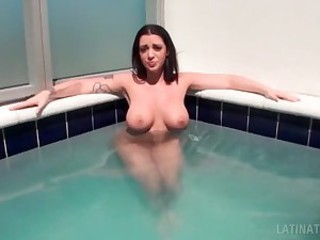 Brunette naked busty latina sucking a..