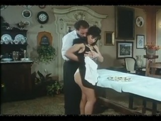 Brunette Maid MILF Uniform Vintage