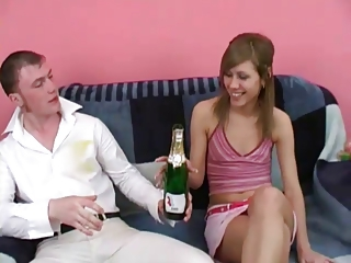 Drunk Russian Teen Threesome