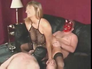 Helpful Hubby Licks Cum after Wife Fucks Pal! Rd & Comment