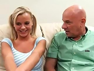 Young and lusty Bree Olson gets drilled by two old gentlemen