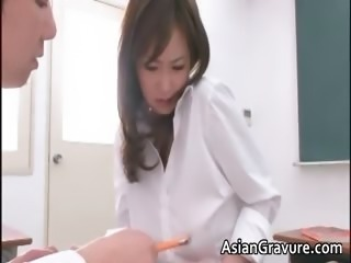 Amazing Asian Cute Japanese MILF School Teacher