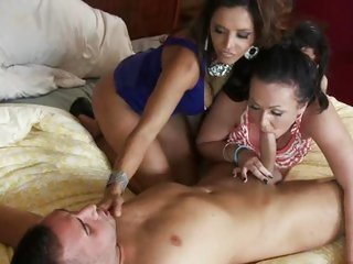 Francesca Le & Chloe Reese Carter share this prick