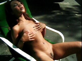 Amazing Asian Cute Masturbating MILF Outdoor