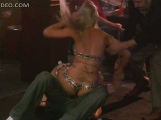Sexy Arianna Coltellacci and Company Wrestling Topless In a Strip Club