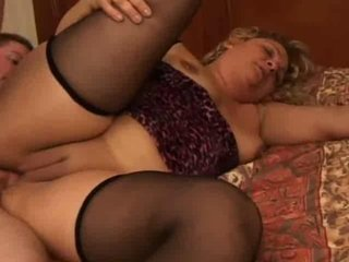Anal BBW MILF Shaved Stockings