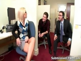 Blonde Glasses MILF Office