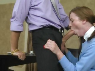 Kali Kenzington takes a huge dick down her throat