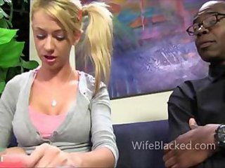Amazing Blonde Cuckold Interracial Teen