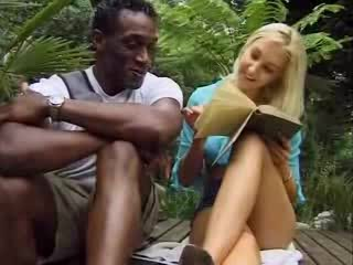 Blonde Interracial Outdoor Teen