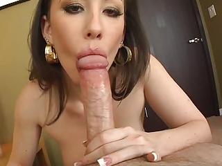 Jennifer White - Good Deepthroat all the way with a nice cumshot POV DTD