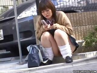 Asian Outdoor Public Teen Upskirt Voyeur