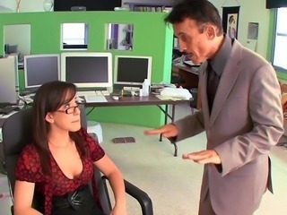 Glasses Office Old and Young Pornstar Secretary
