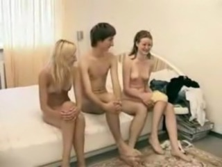 Amateur Russian Skinny Teen Threesome