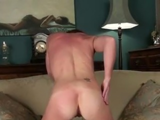 Redhead mom new to porno seductively bares down to nothing but stockings to...