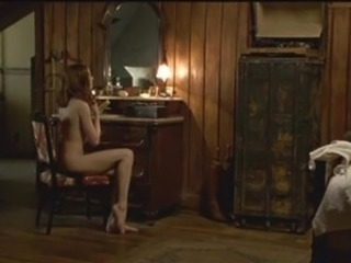Evan Rachel Wood reveals her cute  ass and perky tits inside dark