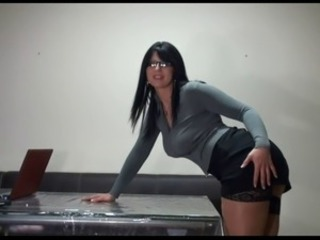Brunette Glasses MILF Office Secretary