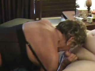 Granny in Black Stockings Likes a Choice of Cocks