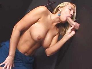 Big cock Blonde Blowjob Gloryhole MILF