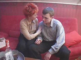 Amateur Drunk Mature Old and Young Redhead