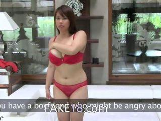 Login to the members area of Asian babe with big tits fucking on couch