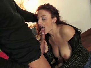 Mature italian beauty getting pussy and ass fucked