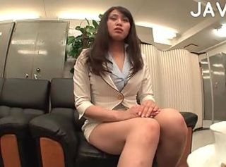 Asian College Girl Toying