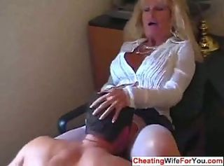 Licking Mature Secretary