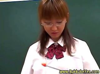 Asian Bukkake Glasses Japanese School Teen