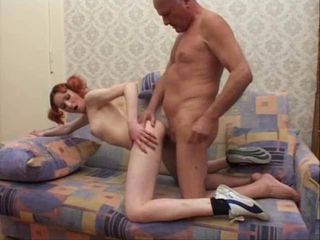 Grandpa and skinny Teen...
