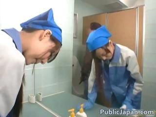 Asian maintenance girl goes i...
