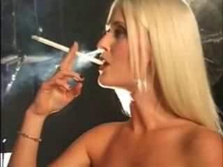 Hot Sexy Blonde Smoking Long ...