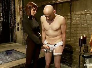 Sissified slave dominated by a sexy Mistress!