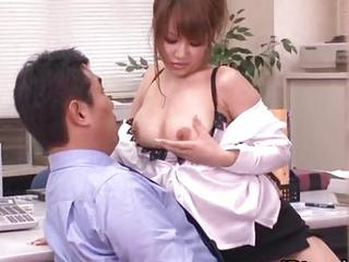 Asian Babe Nipples Office