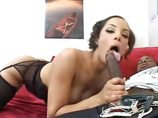 Girl Sucks A Wicked Big Black Cock