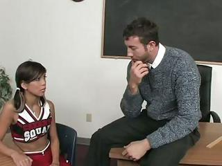 Concupiscent Cheerleader Jordan Ash On Her Knees
